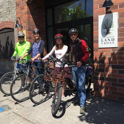 Biking to work in Bend. Photo: Land Trust