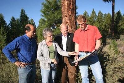 Legislators tour Skyline Forest with Executive Director Brad Chalfant.  Photo: Land Trust