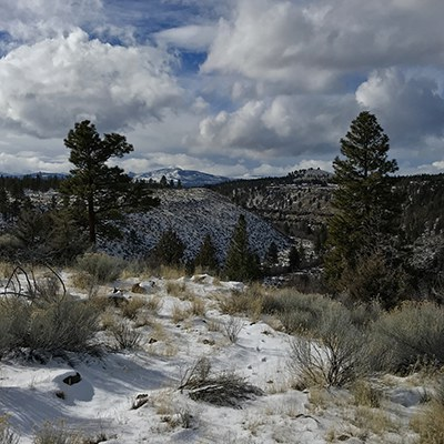 The view from Whychus Canyon Preserve. Photo: Joan Amero.