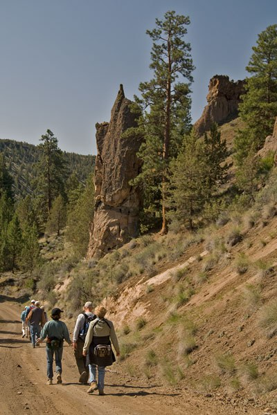 Hikers explore Rimrock Ranch. Photo: MA Willson.