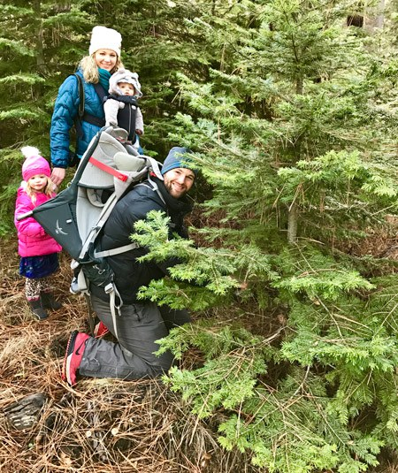 A family at our annual Tree Hunt. Photo: Joan Amero