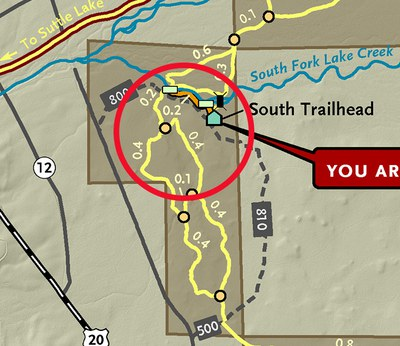 A closer look at the new trail at the Metolius Preserve.