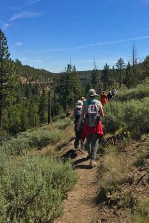 Hikers at Whychus Canyon Preserve. Photo: Joan Amero.