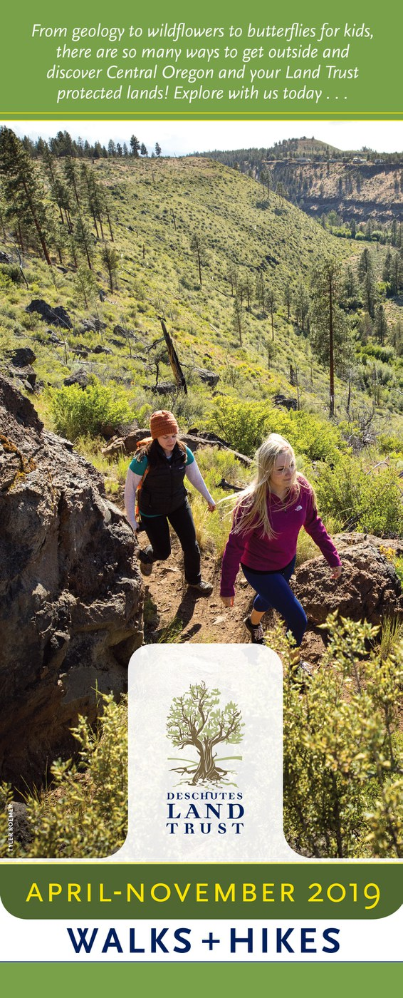 The Land Trust's Walks and Hikes schedule is now available. Cover Photo: Tyler Roemer.
