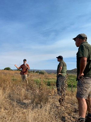 Restoration partners tour Ochoco Preserve to learn about future plans. Photo: Land Trust.