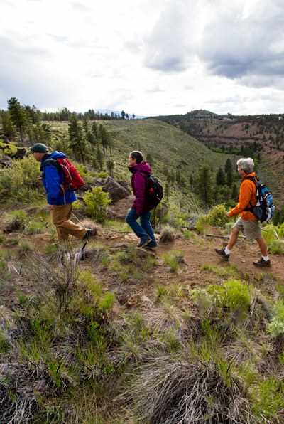 Hikers enjoying the beauty of Central Oregon. Photo: Tyler Roemer.