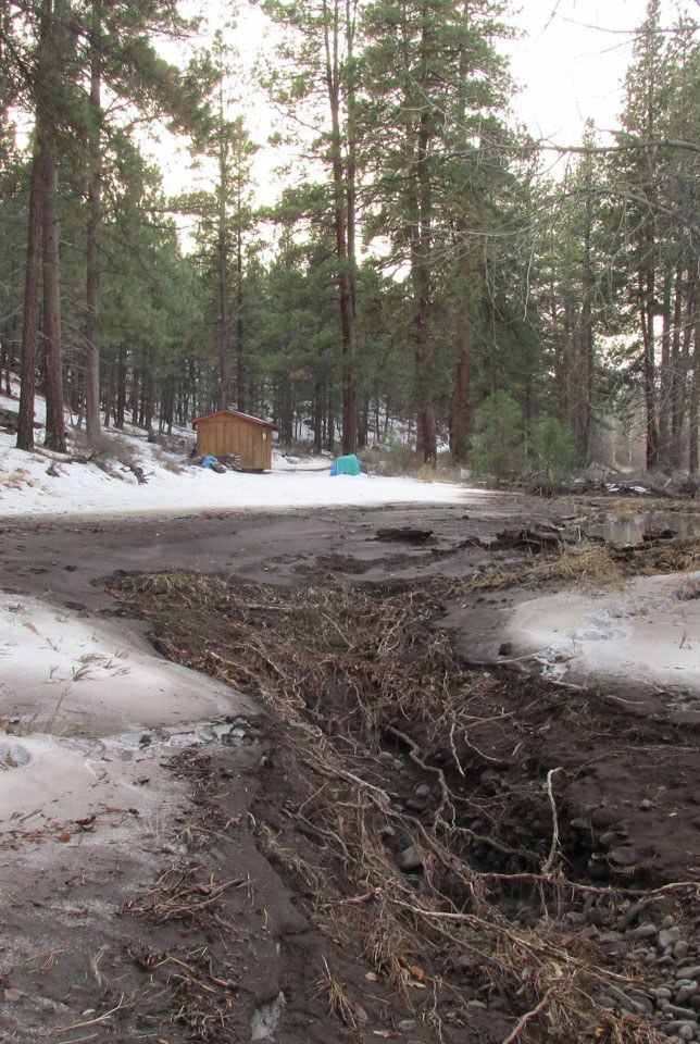 Rain-on-snow events can cause flooding, which leads to erosion. Photo: Land Trust.