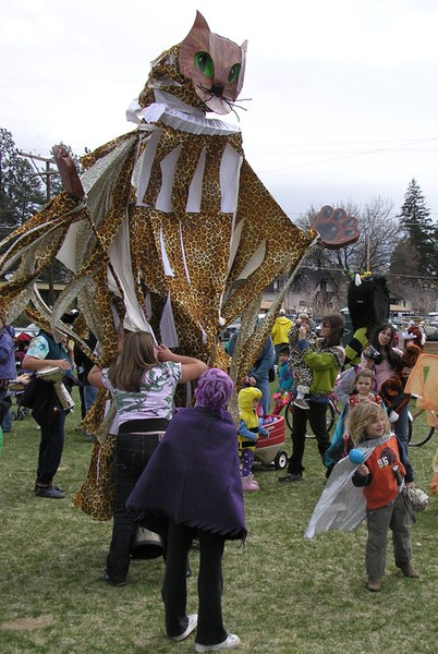 A large puppet from the 2005 Earth Day Fair and Parade. Photo: Courtesy of the Environmental Center.