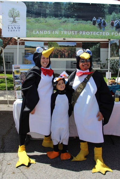 Penguins celebrating at the Earth Day Fair. Photo: Land Trust.