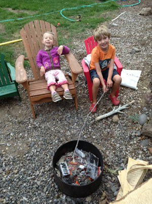 Have a backyard campout and enjoy cooking over the fire! Photo: Sarah Mowry.