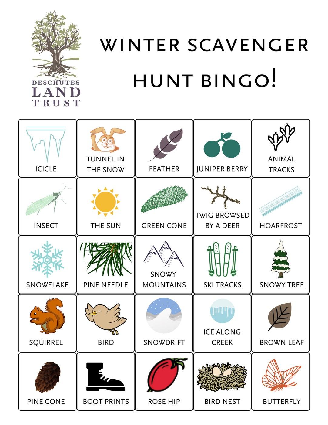 A Winter Scavenger Hunt — Deschutes Land Trust