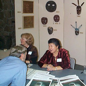 Lillian Pitt and Brad Chalfant at River Visions in 2000. Photo: Land Trust
