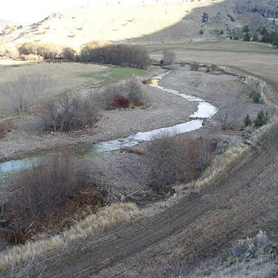 Trout Creek immediately after heavy equipment restored it. Photo: ODFW.