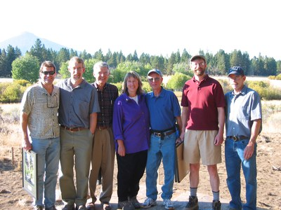 Deschutes Land Trust founders on the 10th Anniversary at Indian Ford Meadow Preserve. Photo provided.
