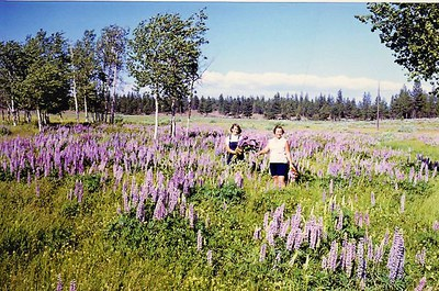 Maret and Leida Pajutee in Indian Ford Meadow circa 1965 after willow removal. Photo provided.
