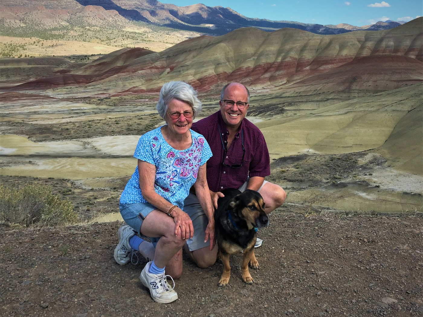 Eric Olson and his mother Phoebe pose for a photo during a hike. Photo: Provided.