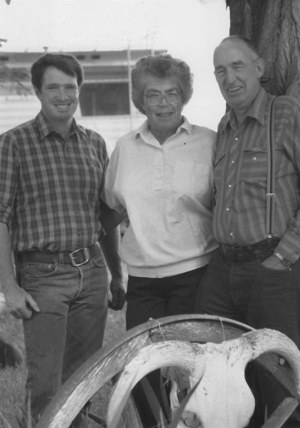Annan Priday with his parents Patricia Ruth Cook and John Warren Priday. Photo: Annan Priday.