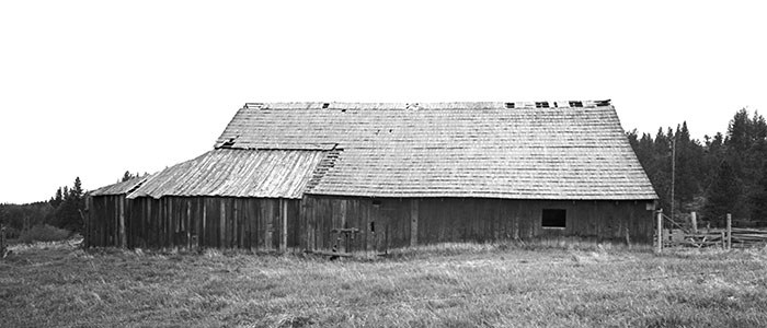 A view of the barn from 1972. Photo: Ed Barnum.