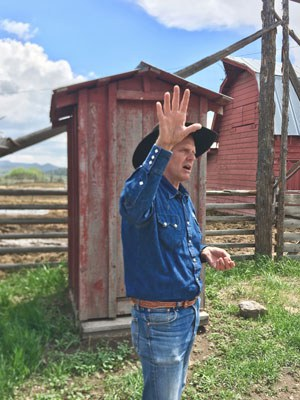 Jim Wood shares the history of his ranch. Photo: Land Trust.