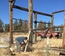 Hindman Barn stabilization project begins